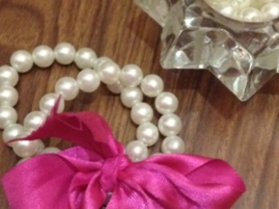 Create a Pretty Ribbon Pearl Bracelet - Style - Guidecentral