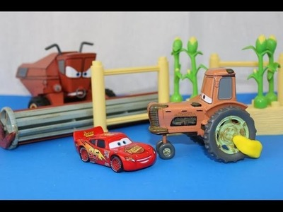 Disney Cars PRANKS Tractor Tipping Play-Doh Boot Prank by Frank on Lightning McQueen Mater