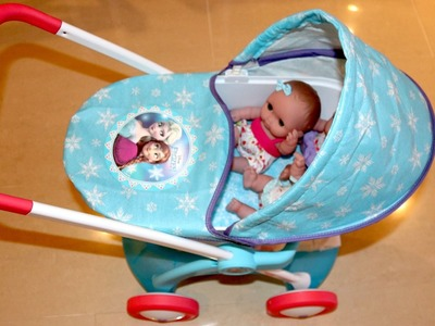 Disney Frozen Dolls Pram - Baby Annabell Lil Cutesies Little girl and Baby Dolls Playtime