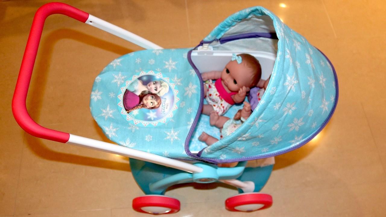 Disney Frozen Dolls Pram - Baby Annabell Lil Cutesies Little girl and Baby Dolls Playtime
