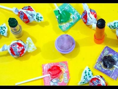 DIY: Como Fazer  Batom de Pirulito ???? Lipstick Out Of Lollipops! DIY Lipstick???? ELENICE CARNEIRO