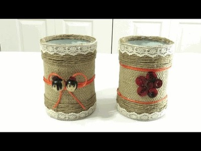 DIY: Recycled Tin Can Crafts Ideas