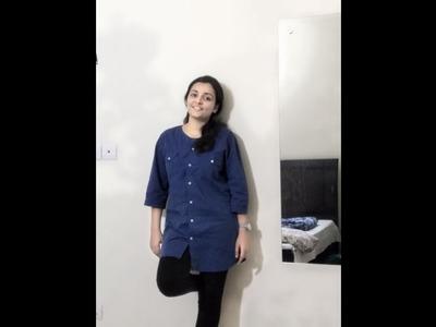DIY transform a man shirt to woman tunic