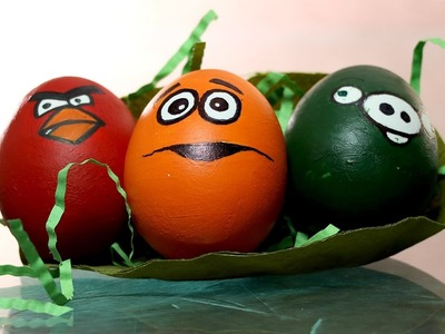 Easter Egg Faces Drawing - Angry Bird Inspired