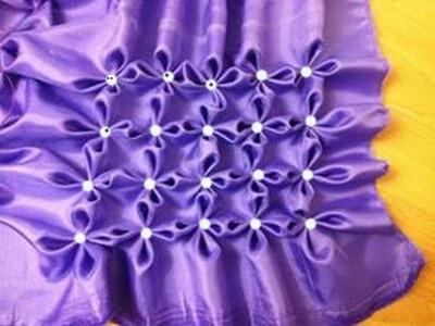 Fabric manipulation Flowers.Jasmine flowers smocking series #2