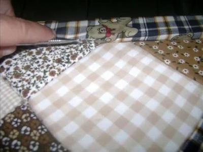 Falso Patchwork em caixa de isopor.patchwork fake styrofoam box