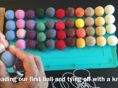 FELT GARLAND BALLS - how to felt balls & make the garland