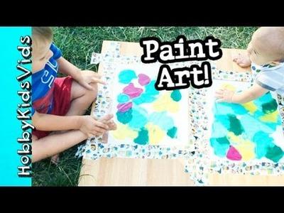 HobbyGator + HobbyBear PAINT Canvas Art! Sensory Play Development by HobbyKidsVids