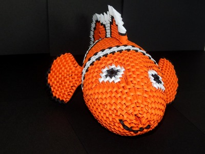 How to make 3d origami NEMO fish ( Finding Nemo) part3
