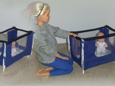 How to make a Doll Baby Playpen