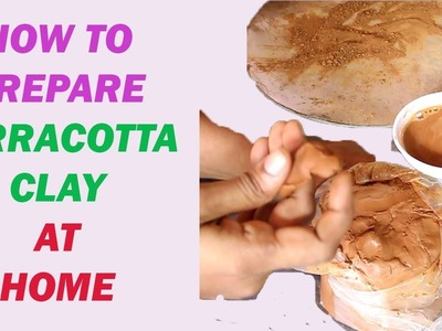 How to make clay. how to prepare terracotta clay.reuse the terracotta clay