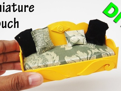 How To Make Miniature Realistic Couch #1 - Handmade Dollhouse