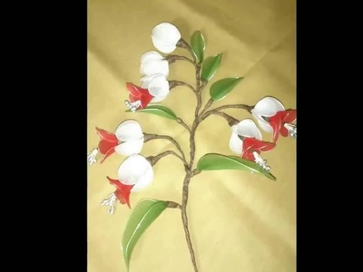 How to make stocking flower. cuckoo rose flower.