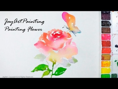 How to paint a Flower in watercolors - Level 4