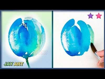 How to Paint a Tulip (Fast and Simple) - Beginner Level 2
