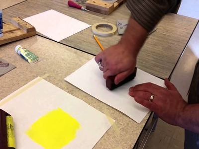 How to print Multi Colored Linoleum Block Prints