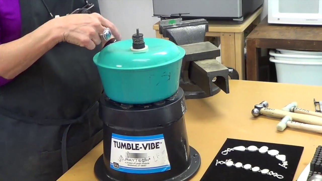 How to Use a Vibratory Tumbler to Polish Metal - Denver School of Metal Arts