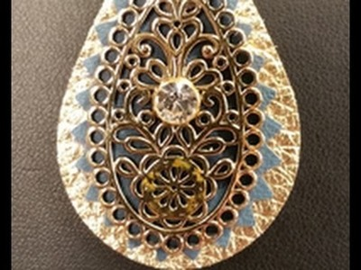 Jill MacKay shows Katie Hacker How To Die Cut Leather on Beads, Baubles & Jewels (2306-2)