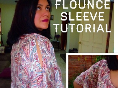 """Make your sleeves """"Flounce"""".  Add a flounce tutorial.  Another Scout Tee Hack."""