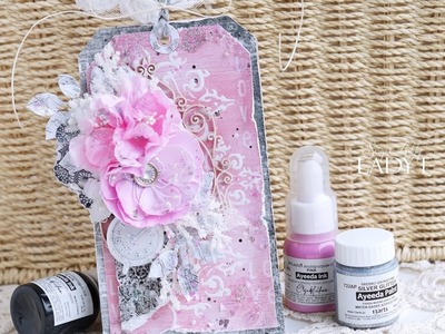 Mixed Media Tag Tutorial  - Lady E -