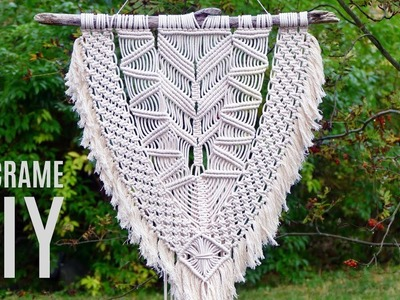 Modern Macramé Wall Hanging Tutorial by Macrame School