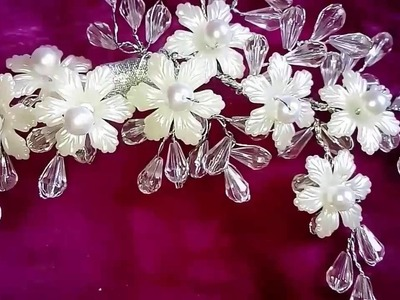 New bridal hair accessories easy and beautiful with crystals