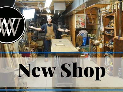 New Shop Tour -  Hand Tool Shop Organization and Setup for Woodworking