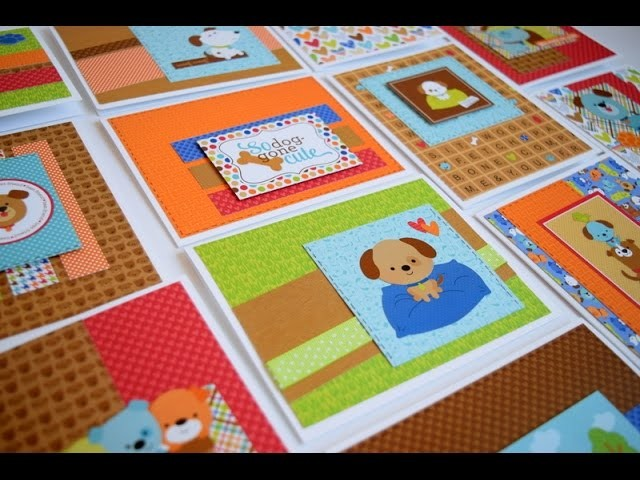 One 6x6 Pad 21 Cards | Doodlebug Puppy Love