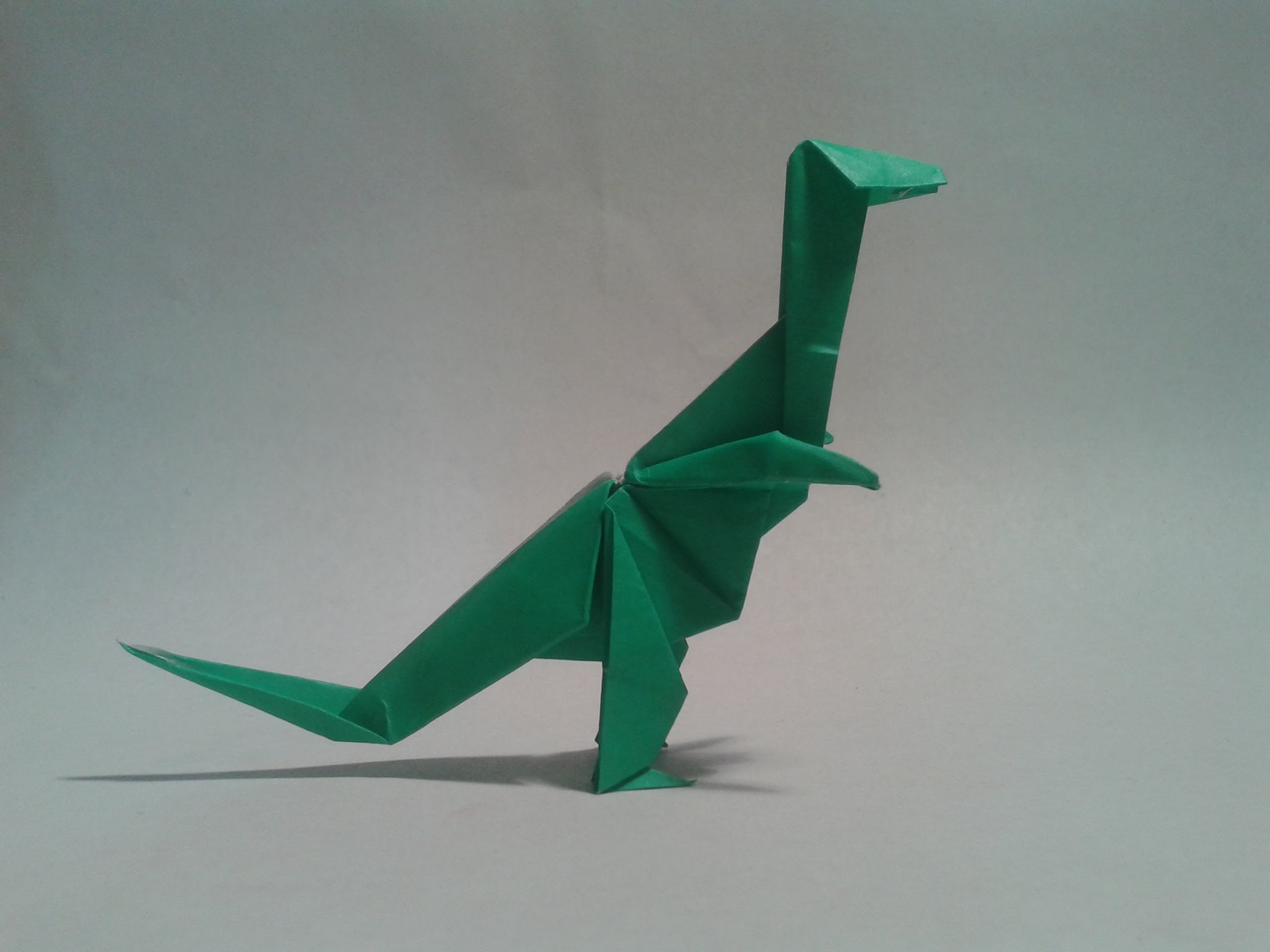 Origami - How to make an origami dinosaur (T-REX) - photo#27