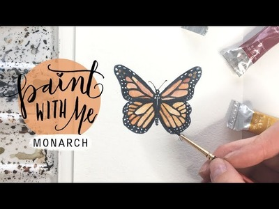 PAINT WITH ME:  Monarch Butterfly Watercolour Tutorial