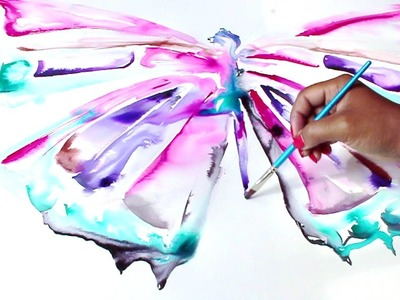 Painting a Butterfly-Watercolor Speed Painting