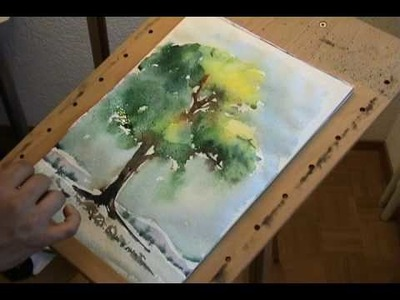 Painting a tree.