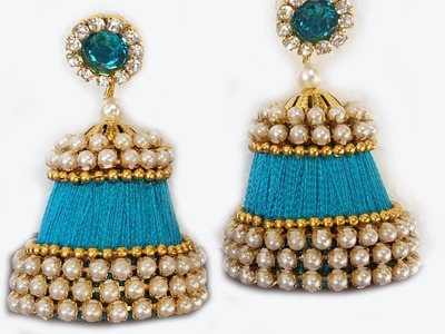 PARTY WARE jhumkas making tutorials with silk thread