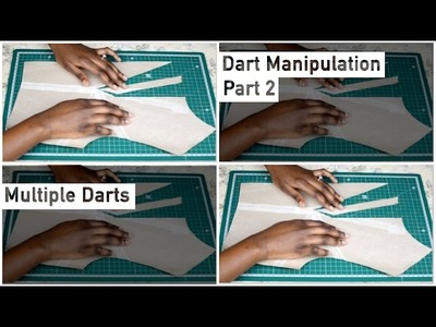 Pattern Drafting Tutorial - Dart Manipulation - Multiple Darts • Elewa