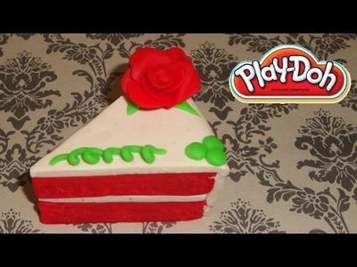 Play-Doh Red Velvet Rose Cake