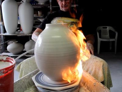Pottery FlameThrowing by BillPowell