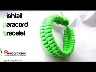 Quick deploy paracord fishtail bracelet