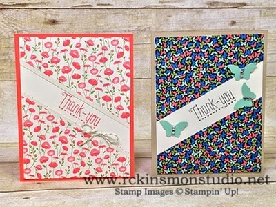 Quick & Easy Pretty Petals Thank You Cards Featuring Stampin' Up! Products