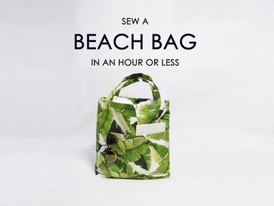 Sew a beach bag tutorial