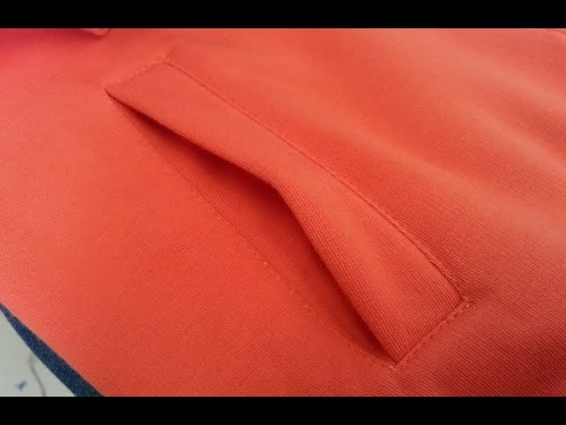 Sewing course part 1.How to sew a pocket. Long sleeve zipper????Jak uszyc kieszeń do bluzy lub spodni