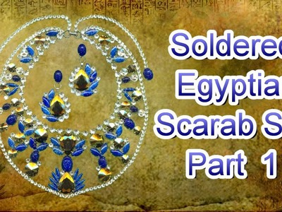 Soldered Egyptian Scarab Set Necklace Part 1 with a Heat Gun