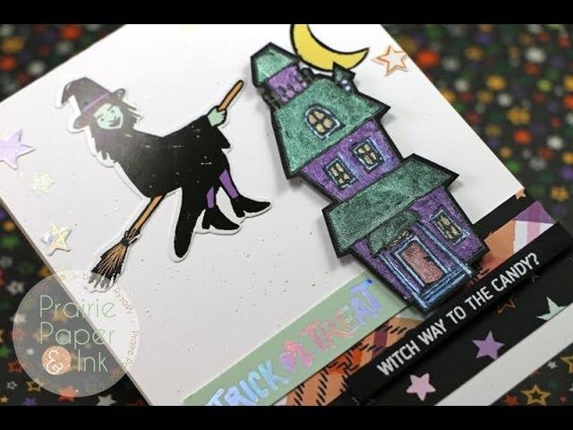 SSS Creepy Cute Glow In the Dark Card   AmyR Halloween 2017 Video #8
