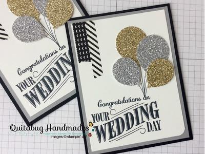 Stampin' Up! Balloon Celebration Wedding Card (Handmade Monday, episode 5)