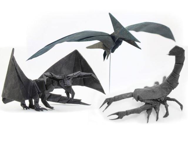 Tadashi Mori's 森正 origami designs.
