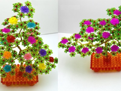 水晶串珠 植物類飾品 牡丹花發財樹 1.4