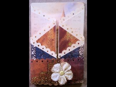 Zig Zag Fold Handmade Card