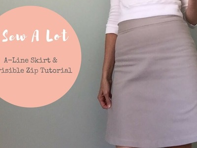 1 hr Challenge - New Look 6035 Skirt & Zip Tutorial - Vlog #27
