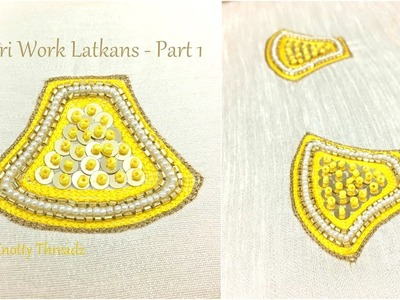 Aari Work Latkans | Making of Aari Work for Design Part 1 | Blouse Latkans | Designer Tassles