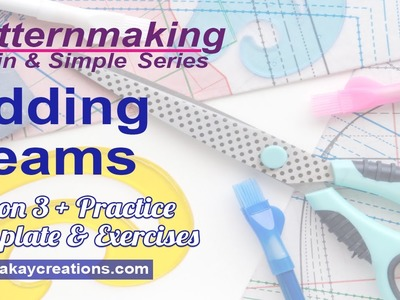 Adding Seams in Patternmaking, Lesson 3