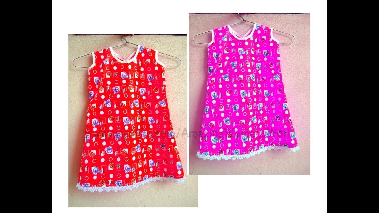 Baby Frock A- Line Dress Making for Months Baby | DIY